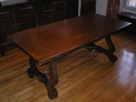 avant relooking table chene