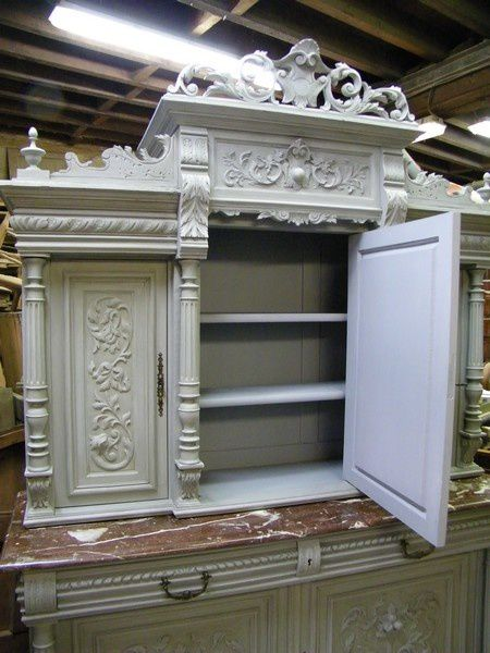 aprs peinture gris patin buffet henri ii with buffet patine gris ancien. Black Bedroom Furniture Sets. Home Design Ideas