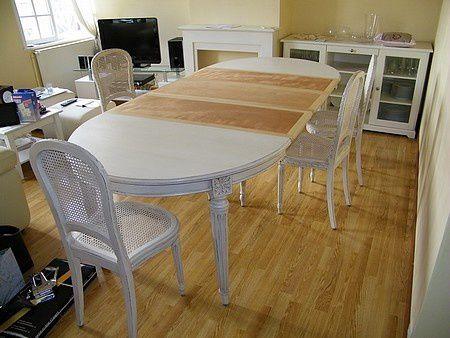 r novation d 39 une table ovale et 4 chaises louis xvi atelier de l 39 b niste c cognard eure. Black Bedroom Furniture Sets. Home Design Ideas