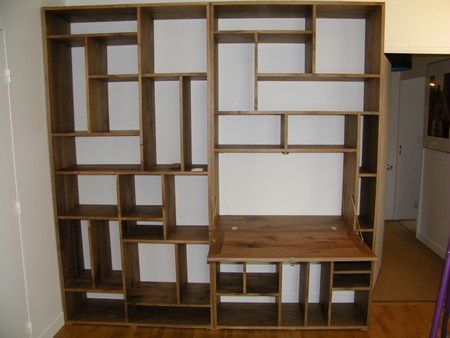 construire une biblioth que murale en bois ly47 jornalagora. Black Bedroom Furniture Sets. Home Design Ideas