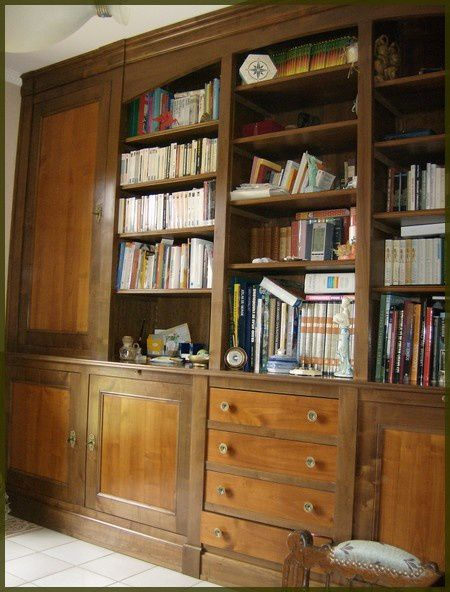 fabrication de bibliotheques murales atelier de l. Black Bedroom Furniture Sets. Home Design Ideas