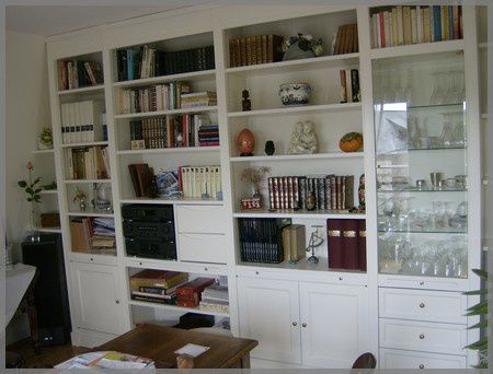 fabrication de bibliotheques murales atelier de l 39 b niste c cognard eure restaurateur. Black Bedroom Furniture Sets. Home Design Ideas