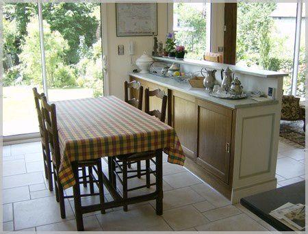 Separation de cuisine idee deco salon salle a manger for Meuble ancien cuisine