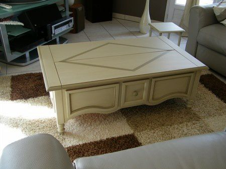 changement allure table basse