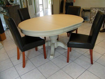table style louis philippe peint gris clair