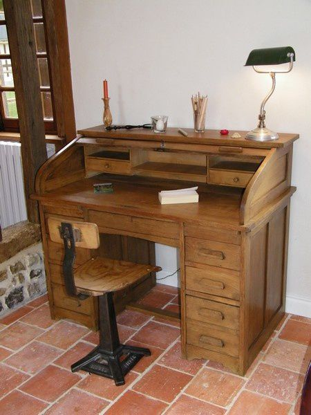 R novation d 39 un bureau cylindre 1920 de famille for Bureau rouleau