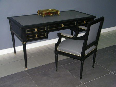 changement de look pour bureau plat louis xvi atelier. Black Bedroom Furniture Sets. Home Design Ideas