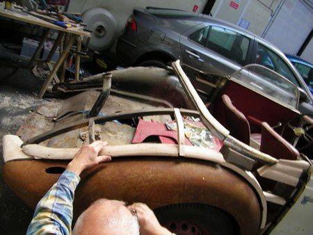restauration ossature bois auto ancienne