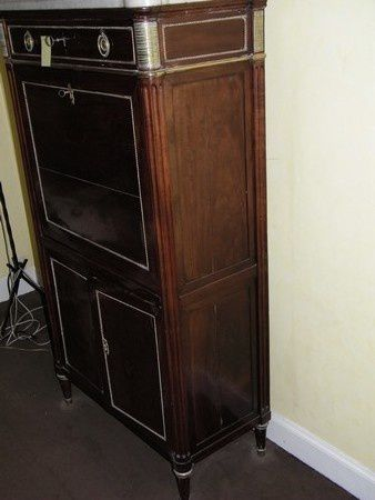avant renovation secretaire Louis 16 acajou