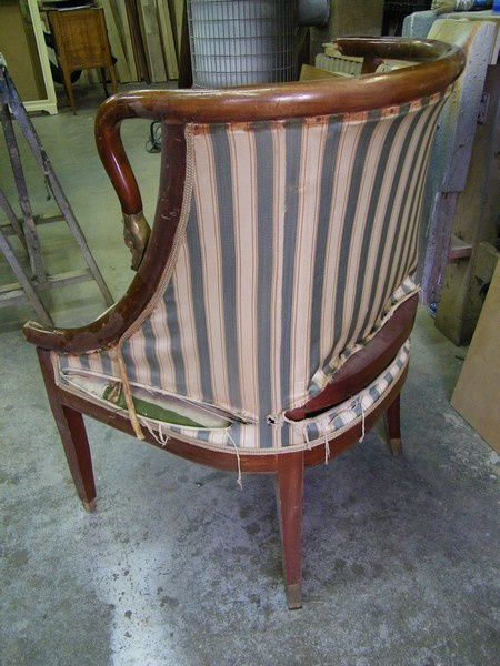avant restauration fauteuil Empire-copie-1