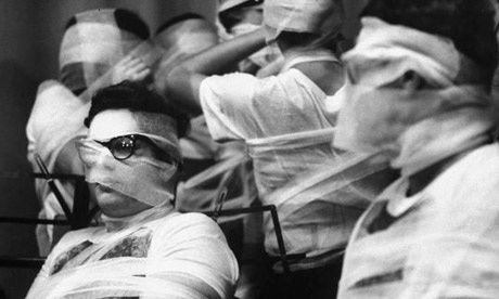 Fluxus 1965 Bandaged Orchestra Fluxus Festival by Ono, Carn