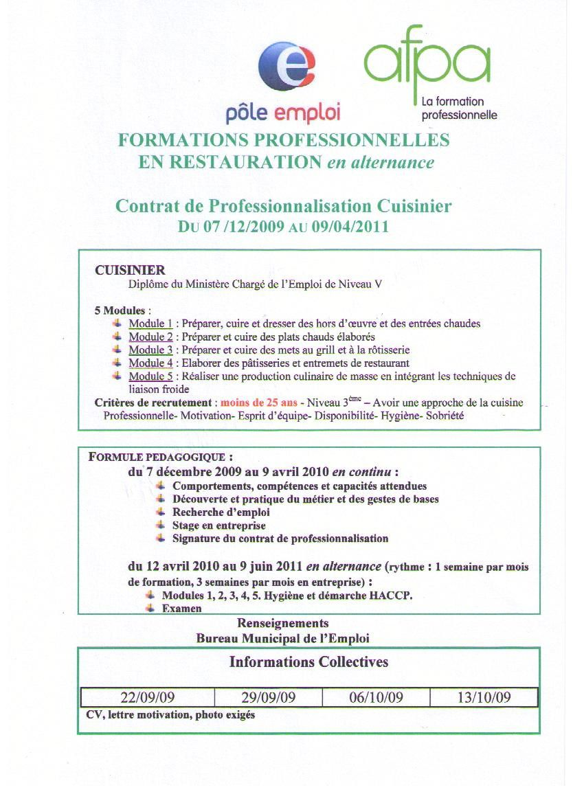 formation pole emploi inscription