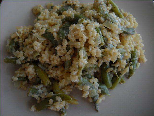 Risotto aux haricots verts