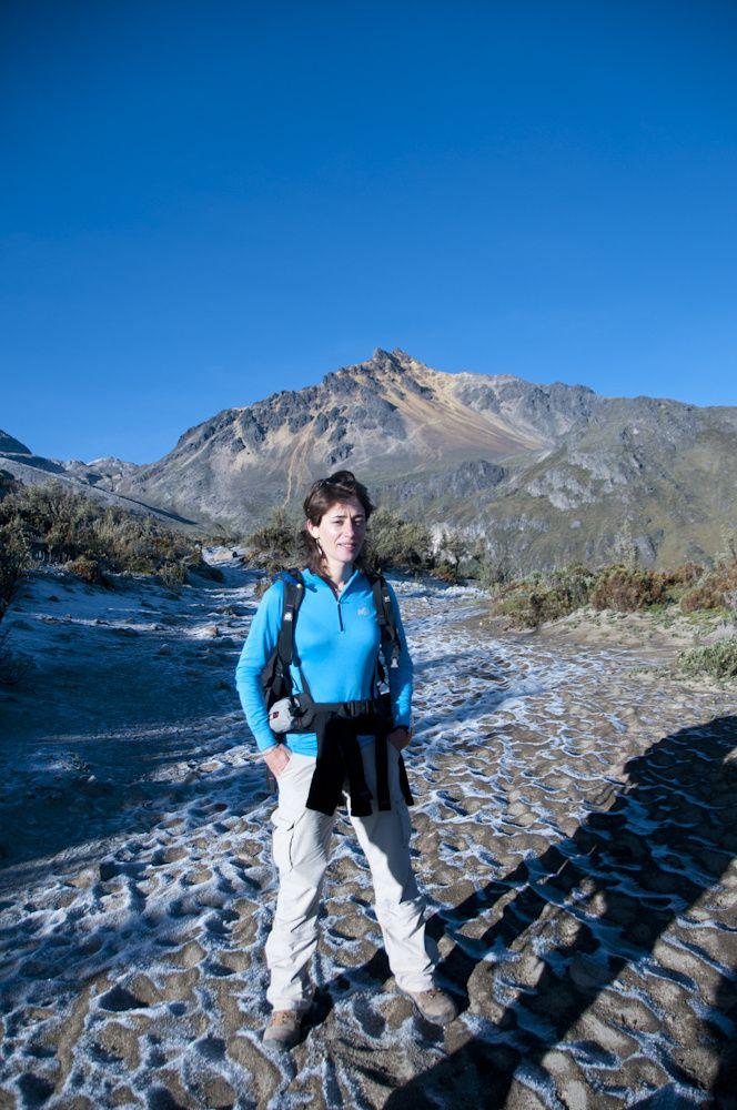 L'ascension de l'Iliniza Nord (5130m). L'iliniza sud est très convoité par les andinistes mais pas à notre portée.
