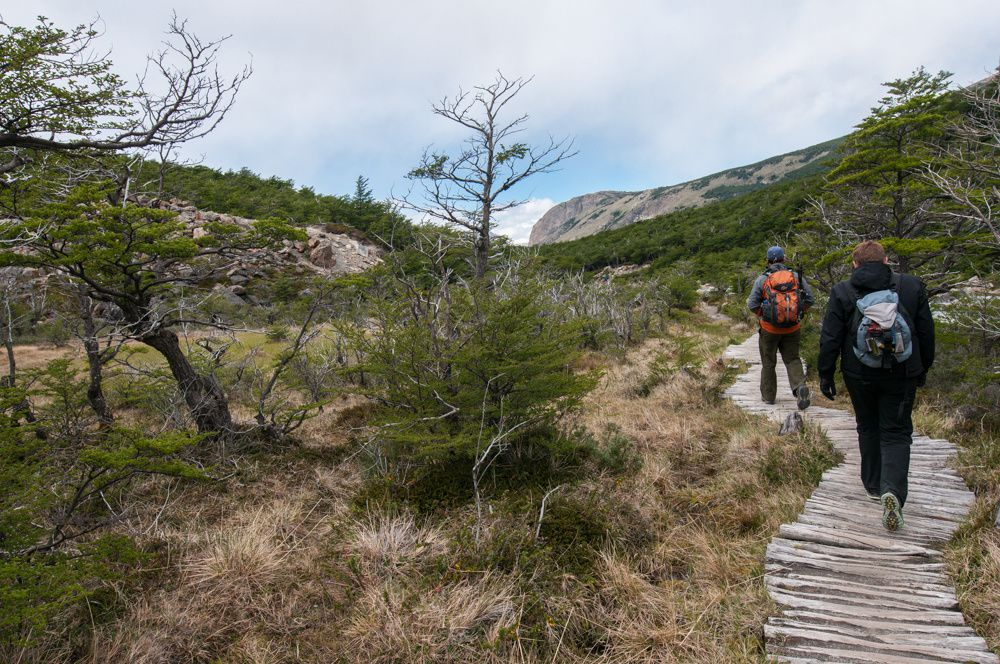 de El Chaltèn vers le cerro Torre et le glacier Torre
