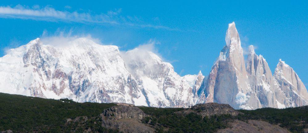 El Chalten en vue panoramique sur le massif du Fitz Roy - mirador Liegue Tumbado