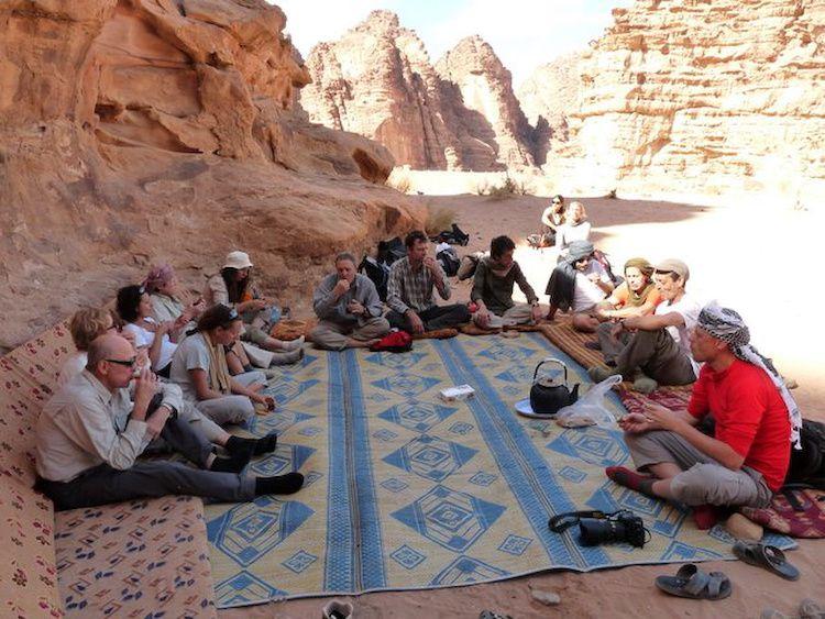 Première immersion dans le désert du Wadi RUM Sur les traces de Lawrence d'Arabie - les 7 piliers de la sagesse