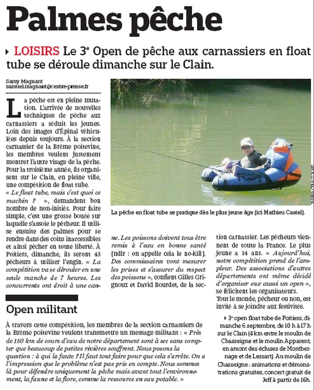 article Centre presse avant open