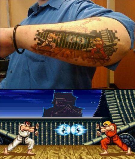 street fighter tatouage