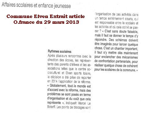 article Ofrance rythmes elven 29 mars