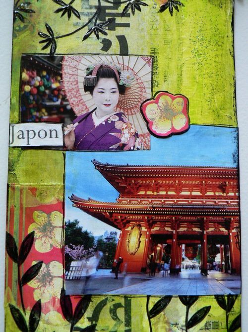 MAil art japon détail 2