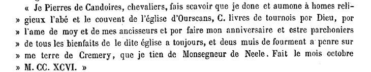 Testament de Pierre de CANDOIRE