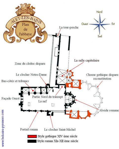 Alet plan de l'abbaye