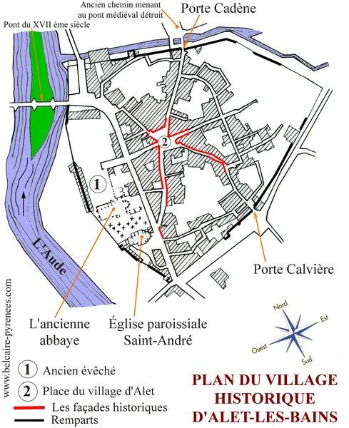 Alet plan du village