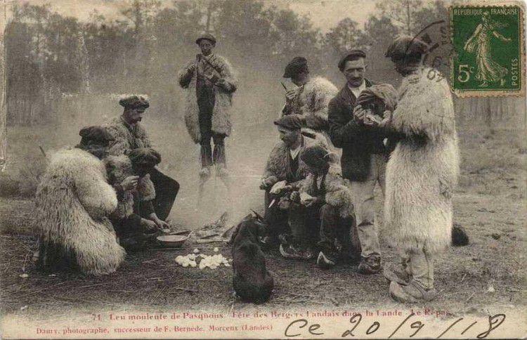 Bergers landais en 1918