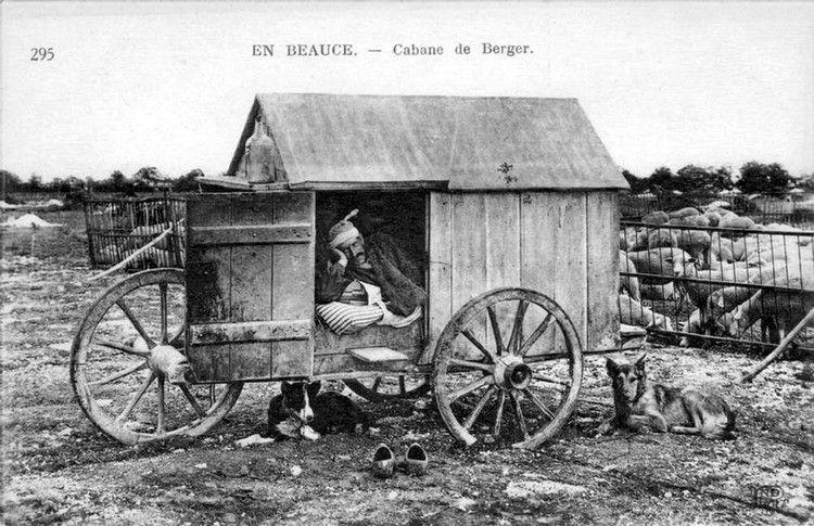 Cabane de berger beauceron en 1900