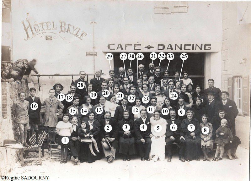 Belcaire mariage 1932 avec les numéros