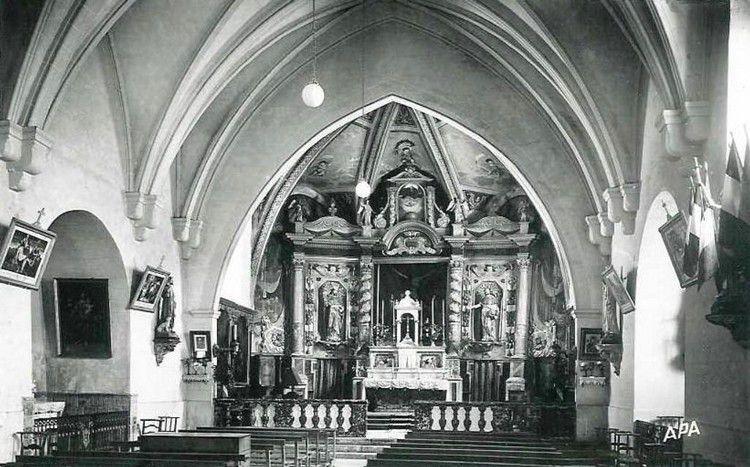 Belcaire photo ancienne 07 nef de l'église en 1950