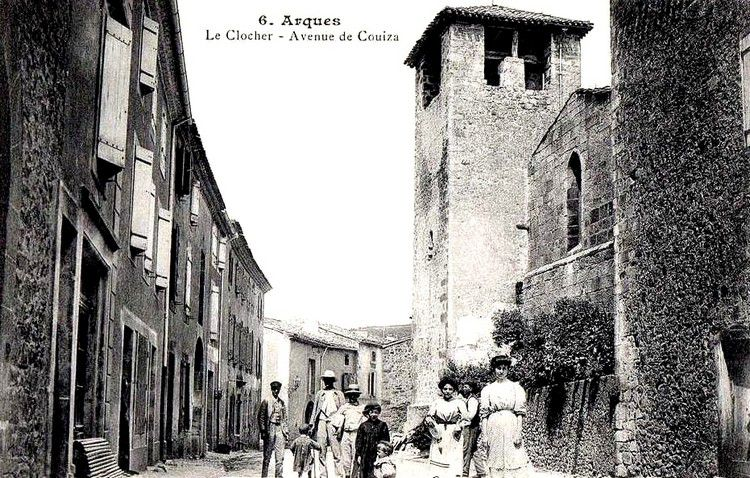 Arques le clocher en 1915