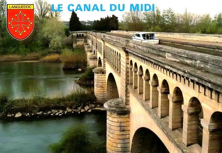 canal du midi pont canal 1970
