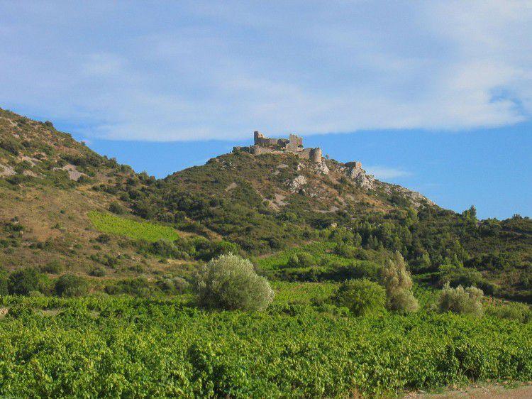 Chateau d'Aguilar 07 vu coté NO
