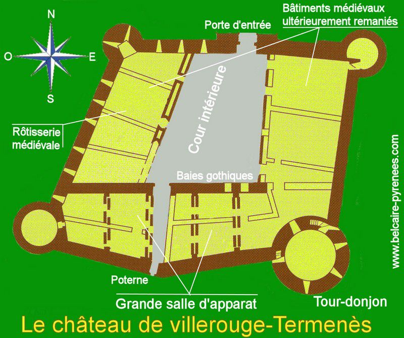 plan du chateau villerouge-termenès 01