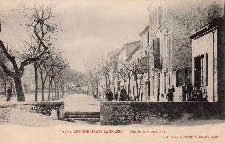 carte postale lagrasse 04 en 1900