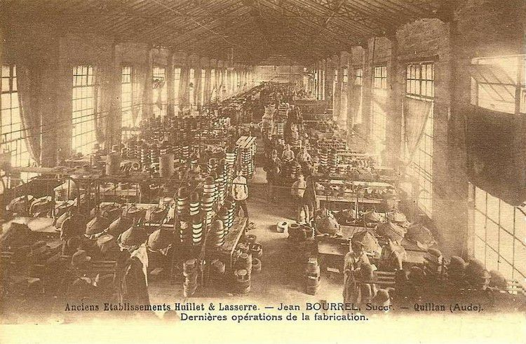 Quillan l'usine Jean Bourrel en 1900
