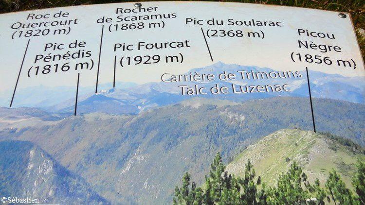 47 Le Roc de Quercourt et le Pic de Pénédis à la l