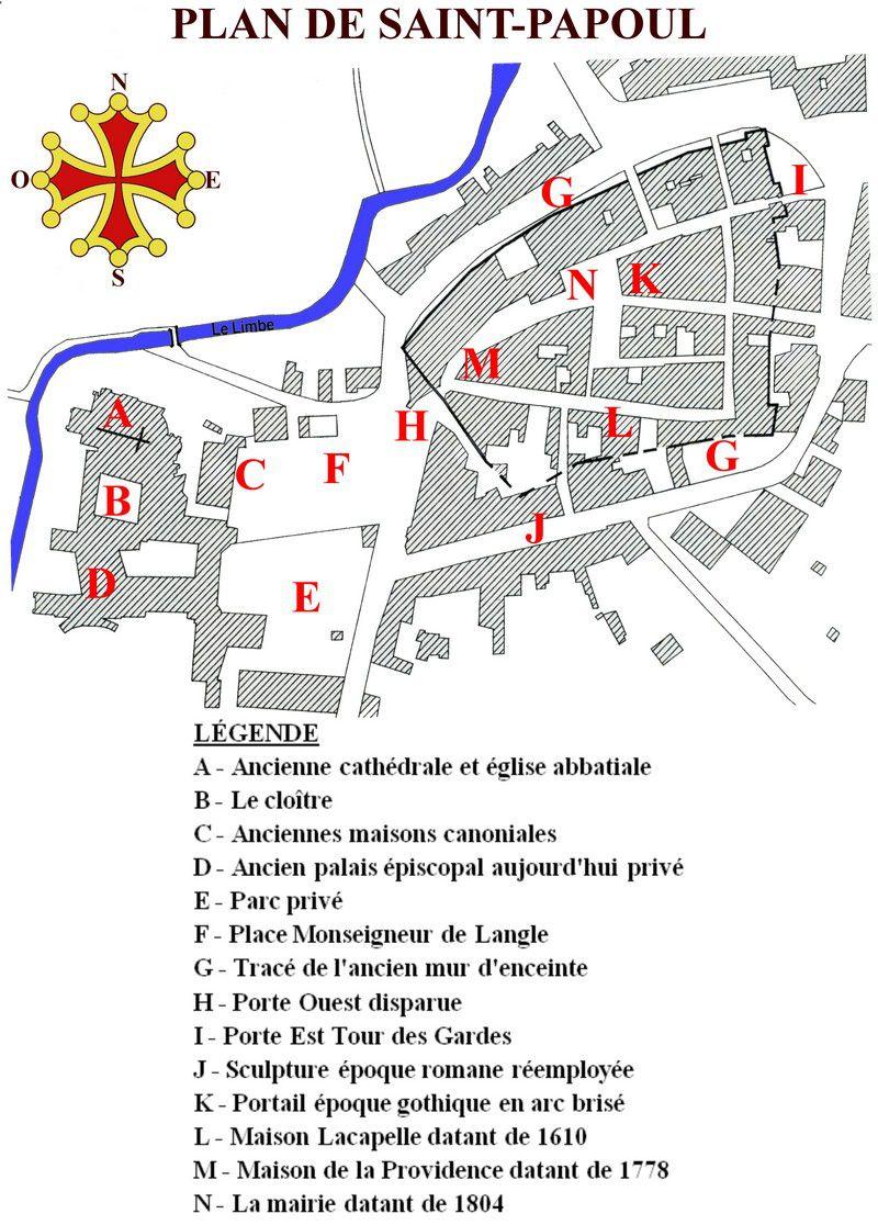 plan du village Saint Papoul 01