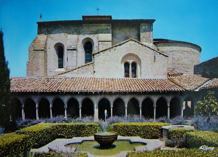 Ancienne photo abbaye Saint Hilaire 1975