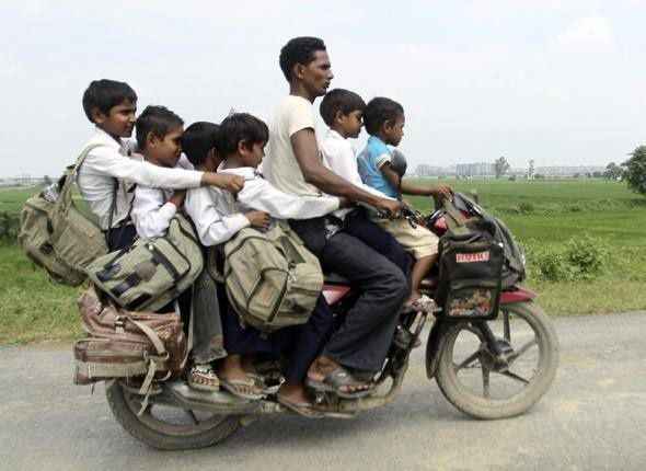 Inde Mini transport collectif