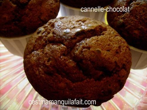 Muffins choco-cannelle