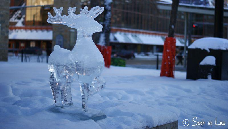 blog voyage canada photo pvt edmonton alberta sculpture cerf glace