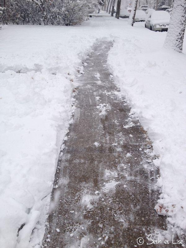 blog canada pvt voyage photo alberta tempete neige hiver trottoir