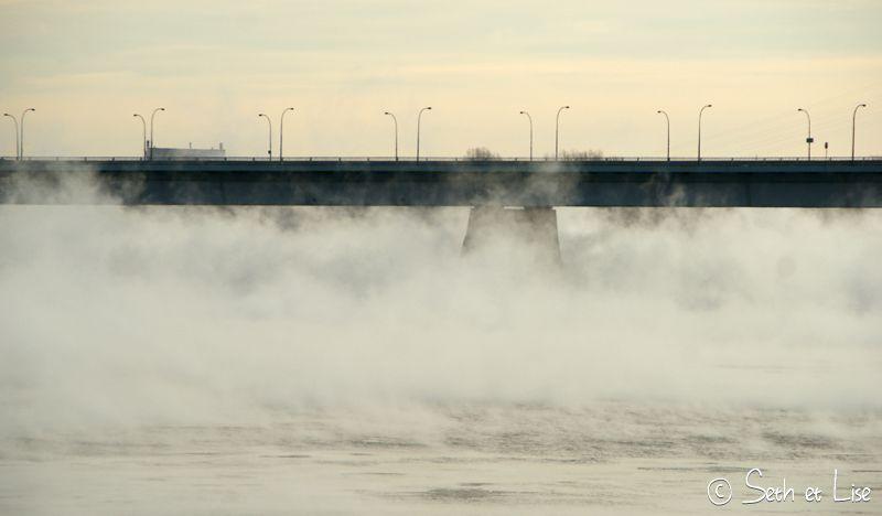 blog voyage montreal pvt photo bd hiver brume mist fog saint laurent canada