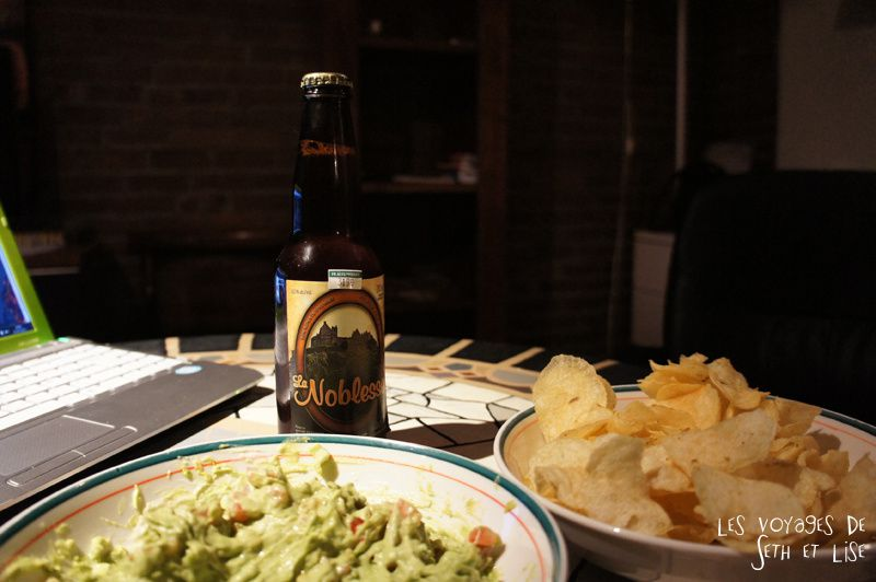 blog voyage canada montreal pvt whv biere microbrasserie noblesse chips apero guacamole
