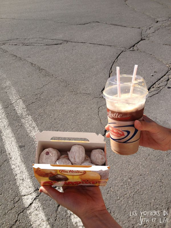 blog voyage canada montreal pvt whv timbits iced coffee tim hortons