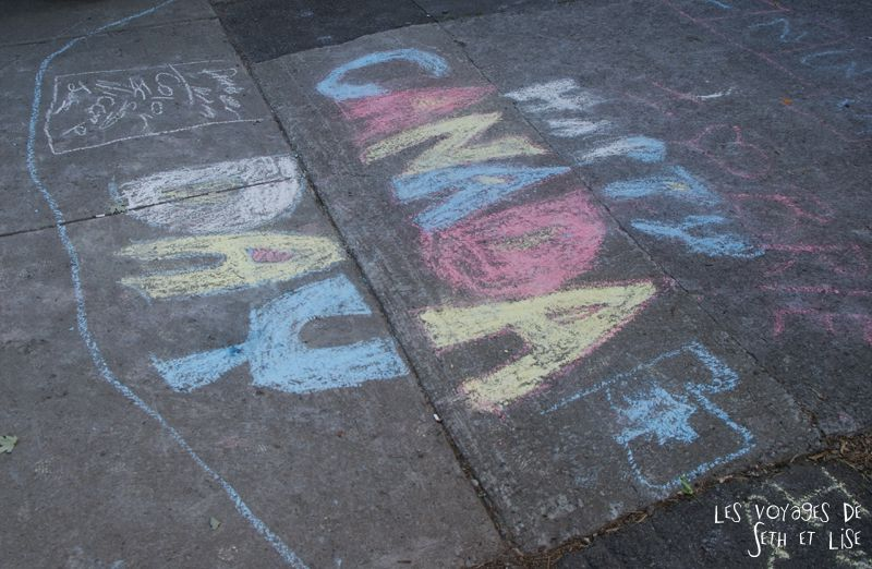 blog canada voyage pvt whv montreal moving day demenagement photo insolite canada day chalk