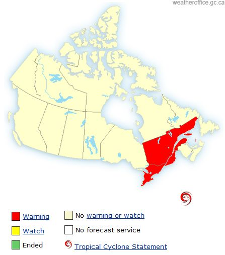 blog canada montreal voyage pvt whv canicule warning meteo weather carte map